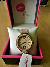 Betsey Johnson Spring Breeze Textured Pink Watch MSRP $85