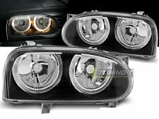 Headlights for VW GOLF 3 III MK3 91-97 Angel Eyes Black DEPO LHD LPVW29-ED XINO