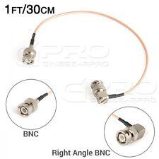 CGPro Ultra Thin Right Angled BNC to BNC HD-SDI 3G-SDI Cable(1FT/30CM) UK!