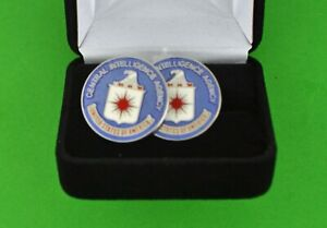 CIA Cuff Links in Presentation Gift Box - Central Intelligence Agency