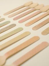 Disposable 5.5 Inch Wooden Utensils - 20 Pieces - Tiny Polka Dots Color Choice