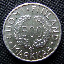 500 MARKKAA Finland XV Olympia, 1951, Silber, Fehlprägung, sehr rar, Zustand!!