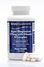 Magnesium 375mg with Vitamin B Complex *120 Tablets *Maximum Health Benefits