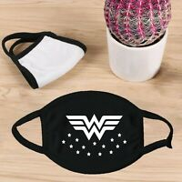 Wonder Woman Black Face Mask Washable Reusable Made in USA