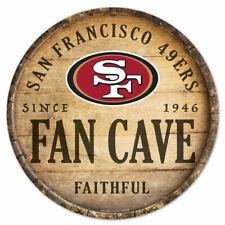 NFL San Francisco 49ers Fan Cave Rund Wood Sign Holzschild Holz Deko Football