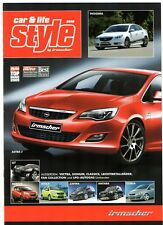 Opel Irmscher Bodystyling Accessories 2010 German Market Brochure Astra Insignia