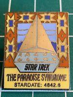 Vintage Star Trek Paradise Syndrome Episode 58 Cloisonné Pin