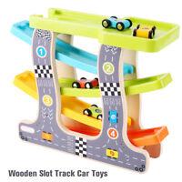 jouets en bois Piste de course, Course de voitures, Course de marbre B7