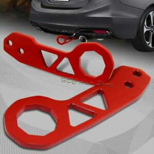 """2"""" JDM Red Rear Anodized Billet Aluminum Racing Towing Hook Tow Kit Universal"""