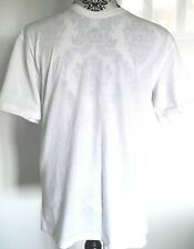 Mens Easy White Short Sleeve T Shirt Top Size Small