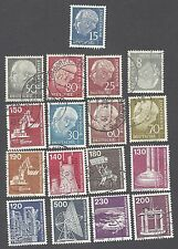 Germany - Sixteen Different Used Stamps