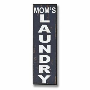Wooden Wall Sign 'Mom's Laundry' - Style My Pad