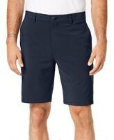 Alfani NEW Eclipse Blue Mens US Size 36 Dress Flat Front Stretch Shorts $55 #286