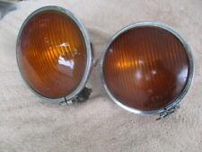 """Early 1930s 5 1/2"""" Cats Eye Fog Lights Hudson, Studebaker, Auburn, Buick, Nash"""