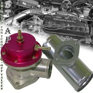 "Universal Jdm Type -S Red Turbo Blow Off Valve Bov 2.5"" Flange Adapter Aluminum"