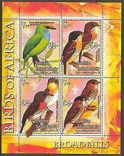Palestinian National Authority Birds of Africa VIII Broadbills Sheet of 4 MNH**