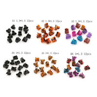 12pcs Small Plastic Black Hair Clips Claws Clamps Nw