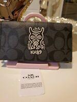 W1651 Keith Haring Art Flip Case Cover For Motorola Moto X4