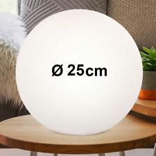 Chrom Tischleuchte Kugel 12 cm Action by Wofi Opalglas weiß