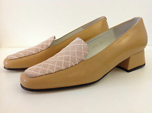 NEW ULTIMATE COLLECTION camel brown quality leather low heel shoes UK 4.5