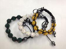 Lot of 3!  Shamballa Bracelets 10mm Disco Balls CZ Crystal +Free Boxes E