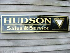"""REVISED""1920's-30'S HUDSON CLASSIC/ANTIQUE AUTO GARAGE ART DEALER/SERVICE SIGN"