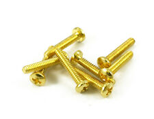 SINGLE COIL PICKUP SCREW GOLD ( 8 ) FITS FENDER STRATOCASTER
