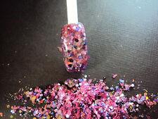 glitter mix acrylic gel nail art     WILD BERRIES