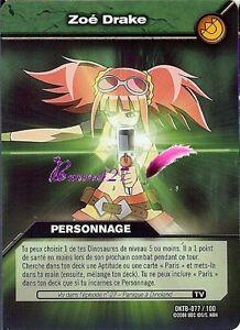 Carte DINOSAUR KING Série Titanesque DKTB 077/100 ZOÉ DRAKE