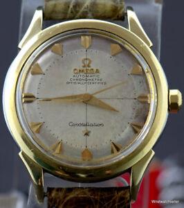 Vintage Omega Constellation Pie Pan Arrow Head 2852 Calibre 501 Gold & Steel