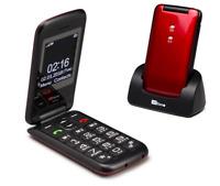 TTfone Nova TT650 Easy to Use Big Button Flip Mobile Phone Loud Volume SOS Key
