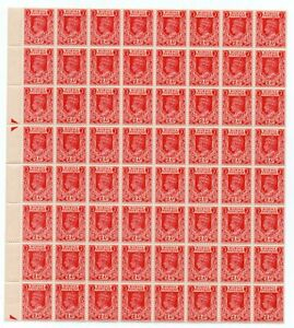 BURMA KGVI 2a *** SUPERB M N H BLOCK of 64 ***