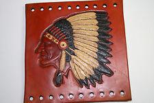 Custom Leather Native American Indian Headdress Grip Cover Saddletan w/ Color