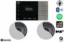 Systemline E100 Bluetooth DAB FM Speaker System With QI 65CB Speakers