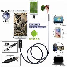 8mm 6 LED USB Endoscope Borescope Imperméable Inspection Tube Caméra vidéo 5M