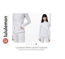 Lululemon Define Jacket. Jacquard White Camo Size 8