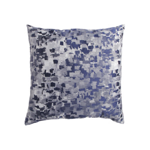 """Canaan METALLIC TREASURE PILLOW IN NAVY 22"""" X 22"""" Square Throw Couch NEW NWT"""