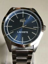 Lacoste Mens' Edmonton Stainless Steel Blue Dial Bracelet Analogue Watch