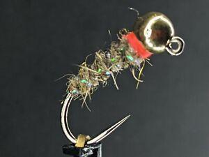 4ea. Tungsten Jig Head Walt's Sexy Worms size #14 W/ Orange collar