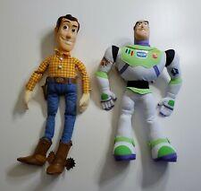Rare Vtg Lot Toy Story Jumbo Adventure Buddy Woody and Buzz Lightyear Plush Toys