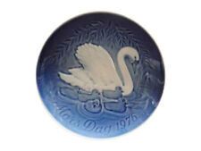 Bing & Grondahl 1976 Mother's Day Plate Swan with Cygnets Mint Condition