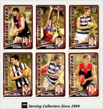 2008 Herald Sun AFL Trading Cards Risingstar Nominee Subset Card Full Set (22)