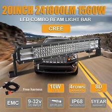 "20""Inch 1560W Quad Row Led Light Bar Combo Beam 8D series Fast Postaged US"