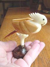 (tn-BIR-CO-350A) COCKATOO bird parrot TAGUA NUT Figurine carving Vegetable palm