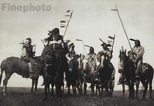 1900/72 Big NATIVE AMERICAN INDIAN Atsina Warrior Horse Photo Art EDWARD CURTIS