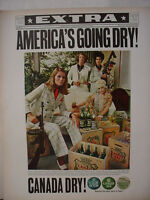1968 Canada Dry Soda Club Ginger Ale Quinine Water Mobster Vintage Print Ad10431