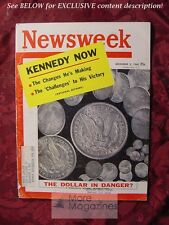 NEWSWEEK Magazine December 5 1960 Dec 12/5/60 KENNEDY DOLLAR CAMELOT +++