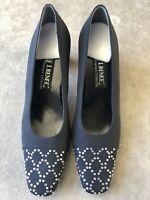 J. RENEE Couture Collection Womens Size 8N Black Rhinestones Pumps Heels
