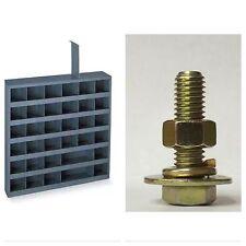 Grade 8 Bolts Nuts Flat Lock Washers Assortment Kit 1870 Pieces W/ BOLT BIN!