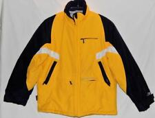 REEBOK Kids Boys Yellow Color-block Winter Puffer Jacket Size Large (14-16)